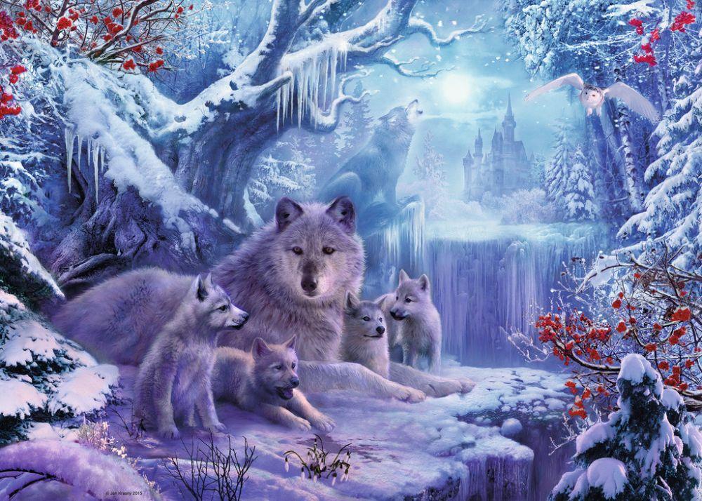 ставит себя фотообои с зимним лесом волками белыми совами размножению они