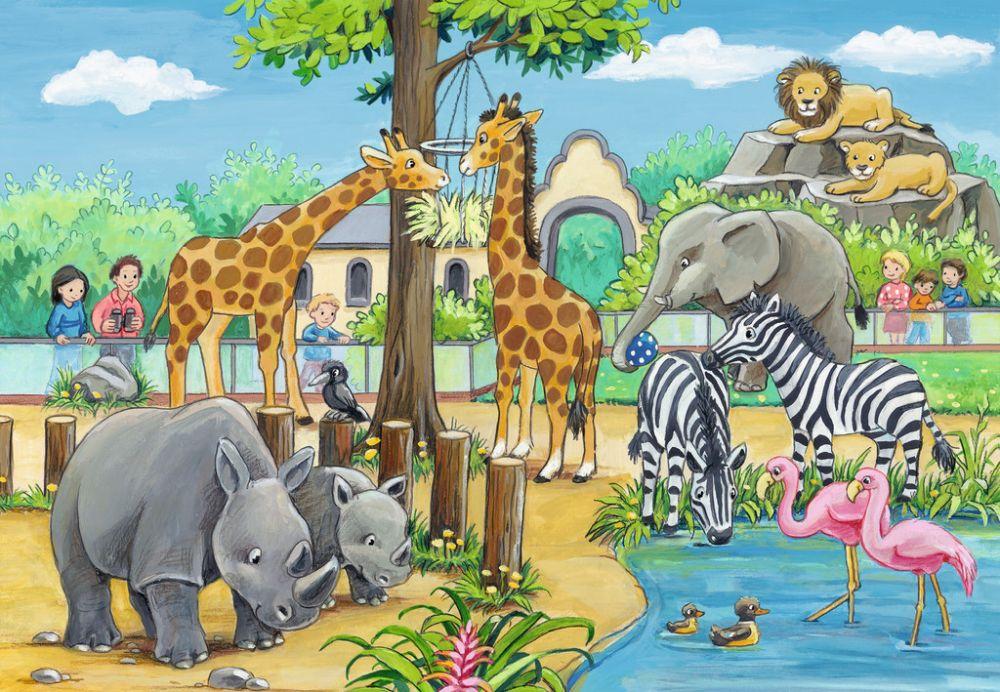 Дети в зоопарк картинки для детей